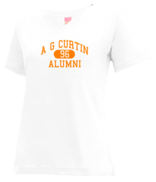 A G Curtin Middle School  V-neck Shirts