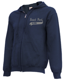 Beach Park School  Zip-up Hoodies