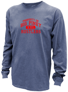 Big Piney Middle School  Pigment Dyed Shirts