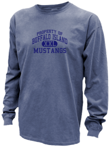 Buffalo Island Central West Elementary  Pigment Dyed Shirts
