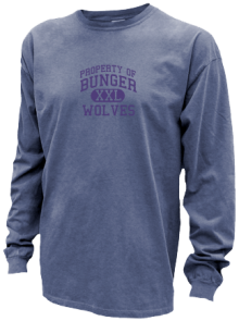 Bunger Middle School  Pigment Dyed Shirts