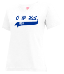 C W Hill Elementary School  V-neck Shirts