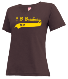 C W Woodbury Junior High School V-neck Shirts