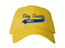 Clay County School  Baseball Caps