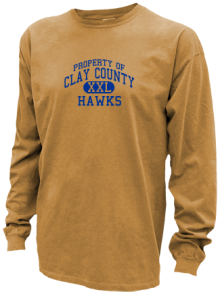 Clay County School  Pigment Dyed Shirts