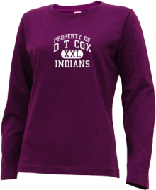 D T Cox Elementary School  Long Sleeve Shirts