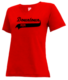 Downtown School  V-neck Shirts