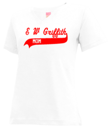 E W Griffith Elementary School  V-neck Shirts