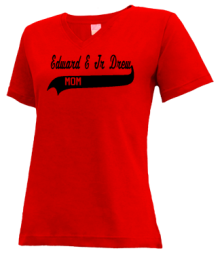 Edward E Jr Drew Middle School  V-neck Shirts