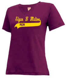 Elgin B Milton Elementary School  V-neck Shirts