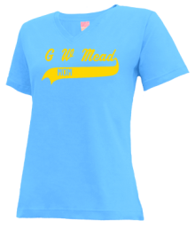 G W Mead Elementary School  V-neck Shirts