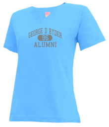 George D Ryder Elementary School  V-neck Shirts