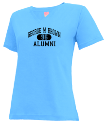 George W Brown Elementary School  V-neck Shirts