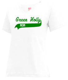 Green Holly School  V-neck Shirts
