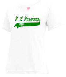 H L Harshman Middle School  V-neck Shirts