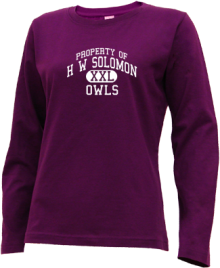 H W Solomon Junior High School Long Sleeve Shirts