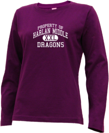 Harlan Middle School  Long Sleeve Shirts