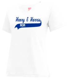 Henry E Harris Elementary School 1  V-neck Shirts