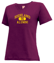 Highland Elementary School  V-neck Shirts