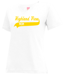 Highland View Elementary School  V-neck Shirts