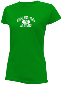 Highland View Elementary School  Slimfit T-Shirts