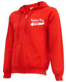 Highland West Junior High School Zip-up Hoodies