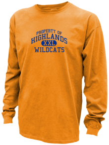Highlands Middle School  Pigment Dyed Shirts