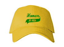 Homer Junior High School Baseball Caps