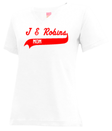 J E Robins Elementary School  V-neck Shirts