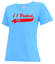 J E Woodard Elementary School  V-neck Shirts