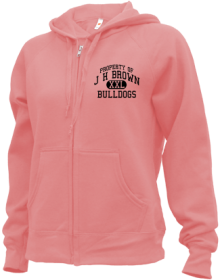 J H Brown Elementary School  Zip-up Hoodies
