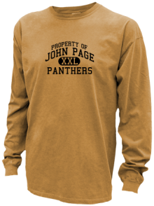 John Page Middle School  Pigment Dyed Shirts