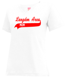 Langdon Area Elementary School  V-neck Shirts