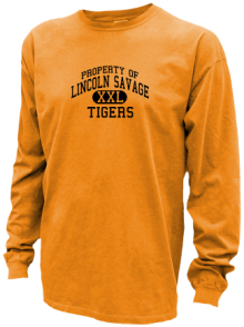 Lincoln Savage Middle School  Pigment Dyed Shirts