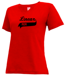 Linear Middle School  V-neck Shirts