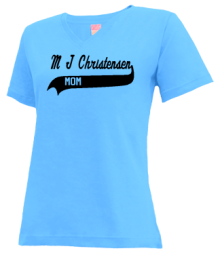 M J Christensen Elementary School  V-neck Shirts