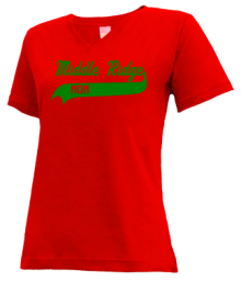 Middle Ridge Elementary School  V-neck Shirts