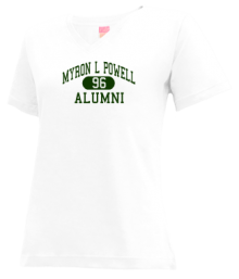 Myron L Powell Elementary School  V-neck Shirts