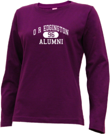 O R Edgington Elementary School  Long Sleeve Shirts