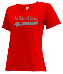 Our Mother Of Sorrows School  V-neck Shirts