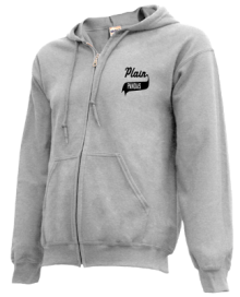 Plain Elementary School  Zip-up Hoodies