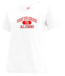 Pleasant River Schoolhouse  V-neck Shirts