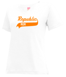 Republic Middle School  V-neck Shirts
