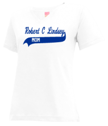 Robert C Lindsey Elementary School  V-neck Shirts