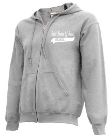 Saint Francis Of Assisi School  Zip-up Hoodies