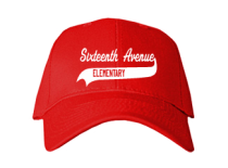 Sixteenth Avenue Elementary School  Baseball Caps