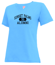 Sunset Palms Elementary School  V-neck Shirts