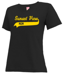 Sunset View Elementary School  V-neck Shirts
