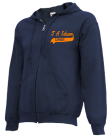 T A Edison Elementary School  Zip-up Hoodies