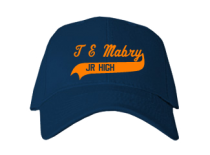 T E Mabry Junior High School Baseball Caps